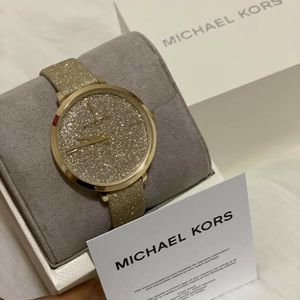 Michael Kors Charley Gold-tone Leather watch